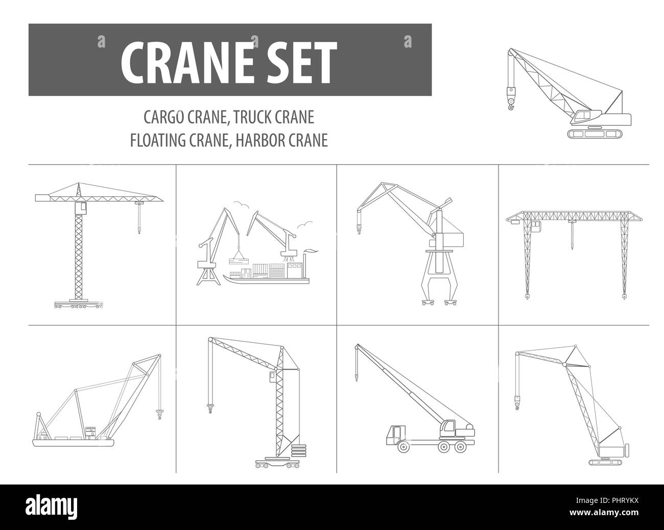 Overhead Crane Cut Out Stock Images Pictures Alamy Schematic And Lifting Machine Outline Icon Set Suitable For Creating Infographics Web Site Content