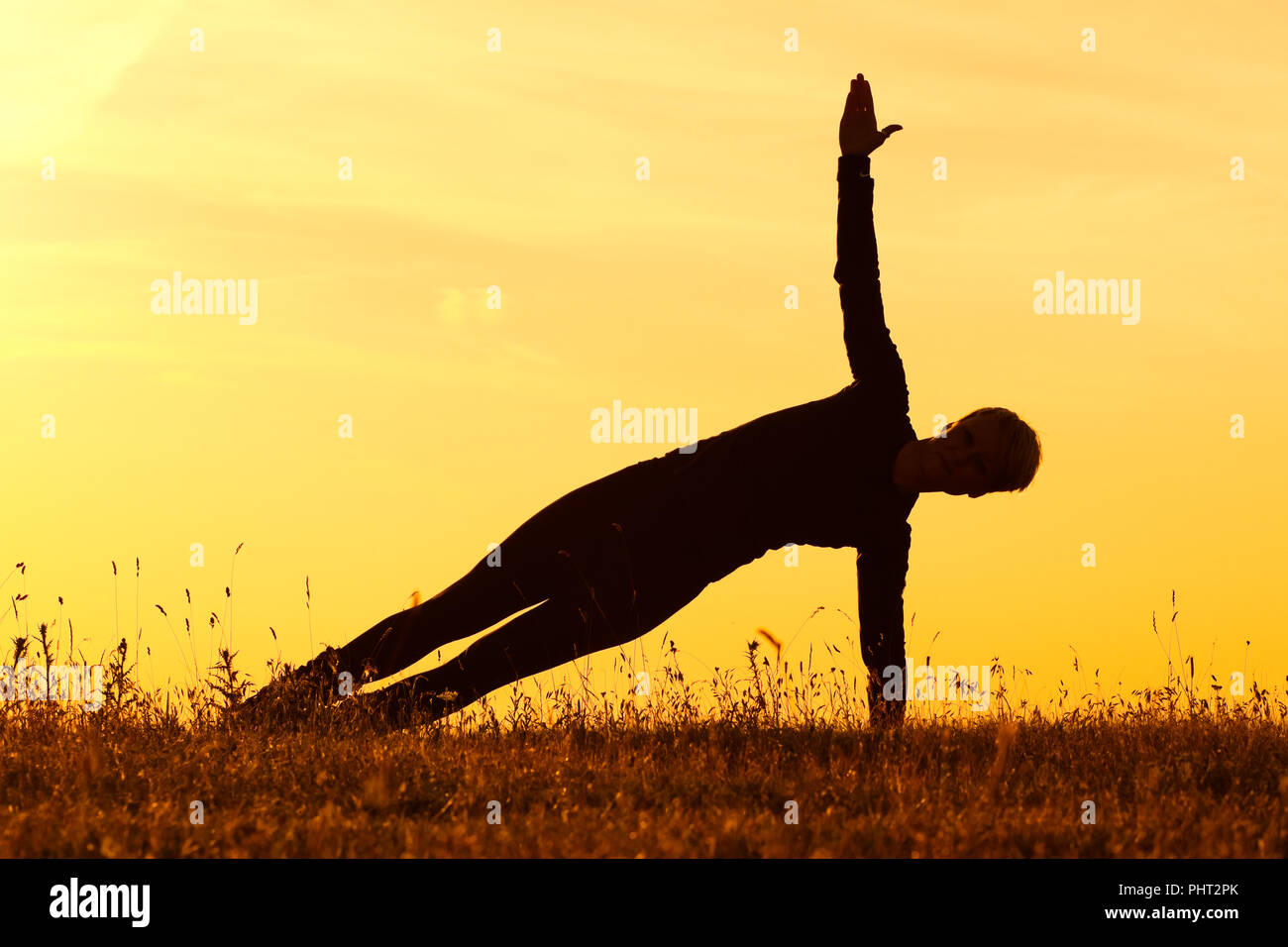 Yoga-Vasisthasana/Side plank pose - Stock Image