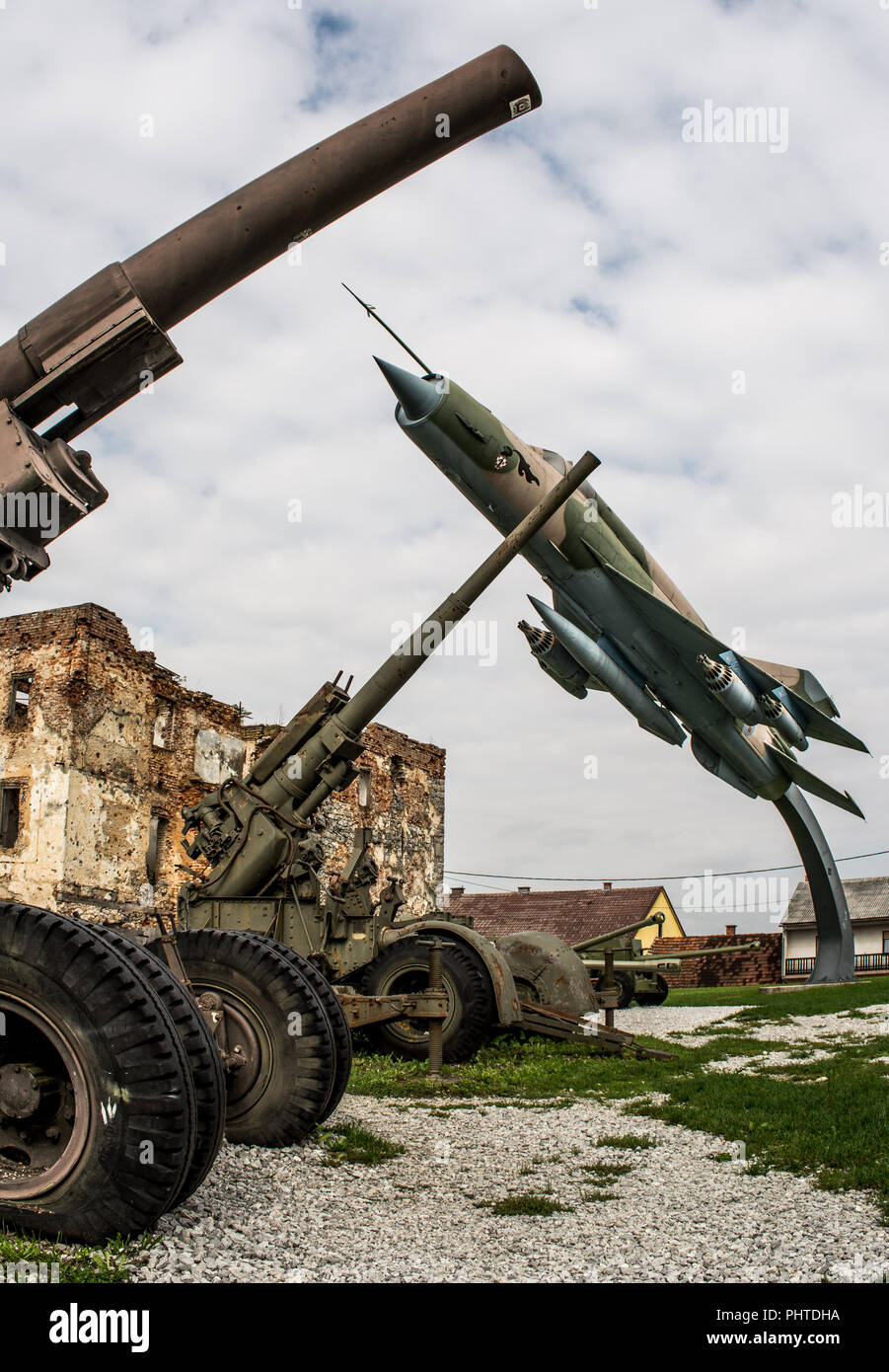 Open air military museum in Turanj, Croatia Stock Photo
