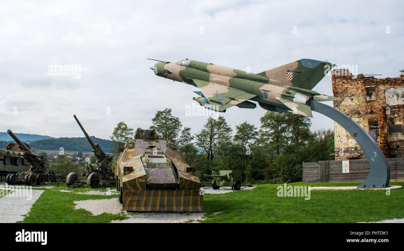 Open air military museum in Turanj, Croatia Stock Photo