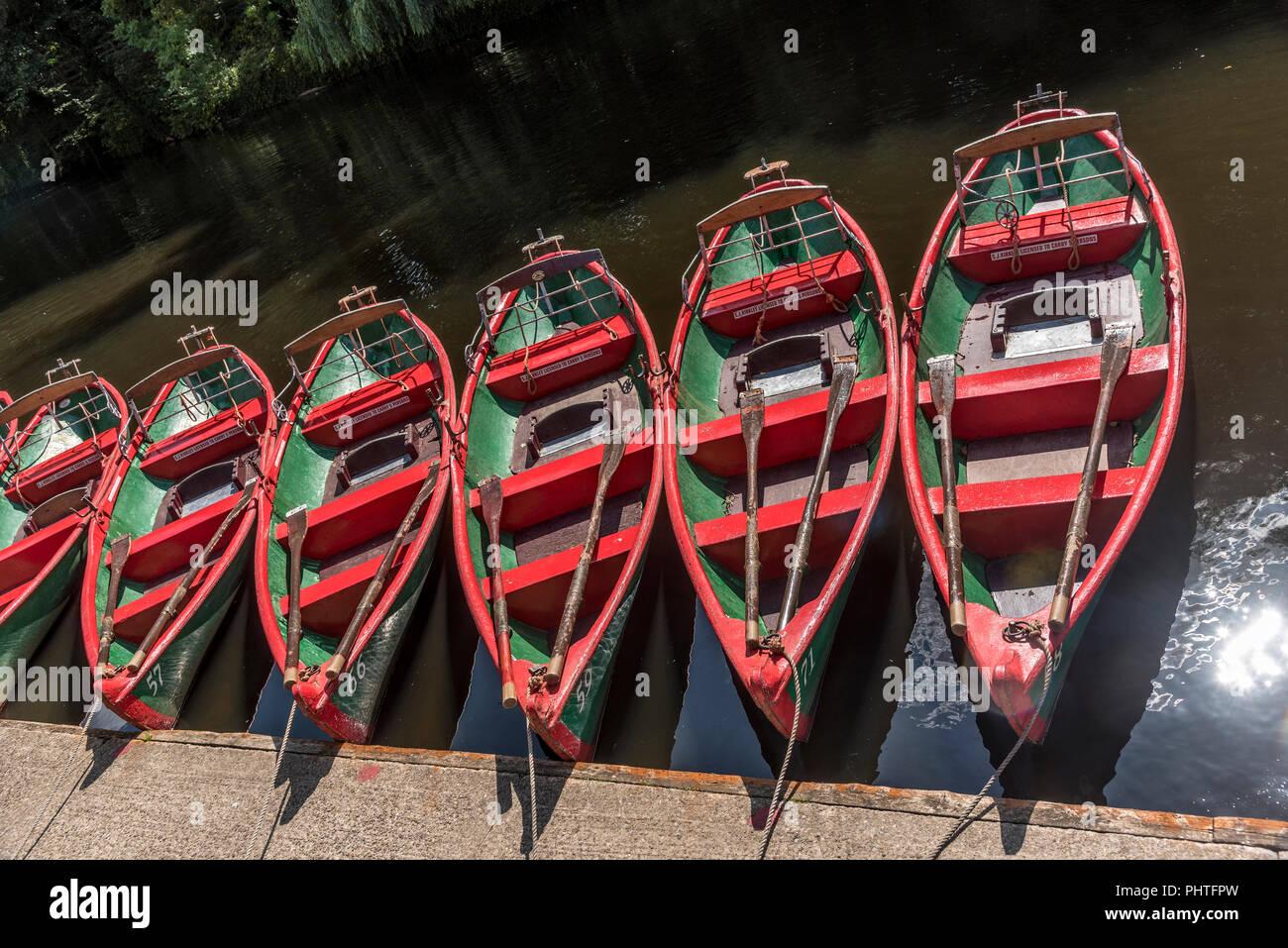 Knaresborough. Rowing boats. - Stock Image