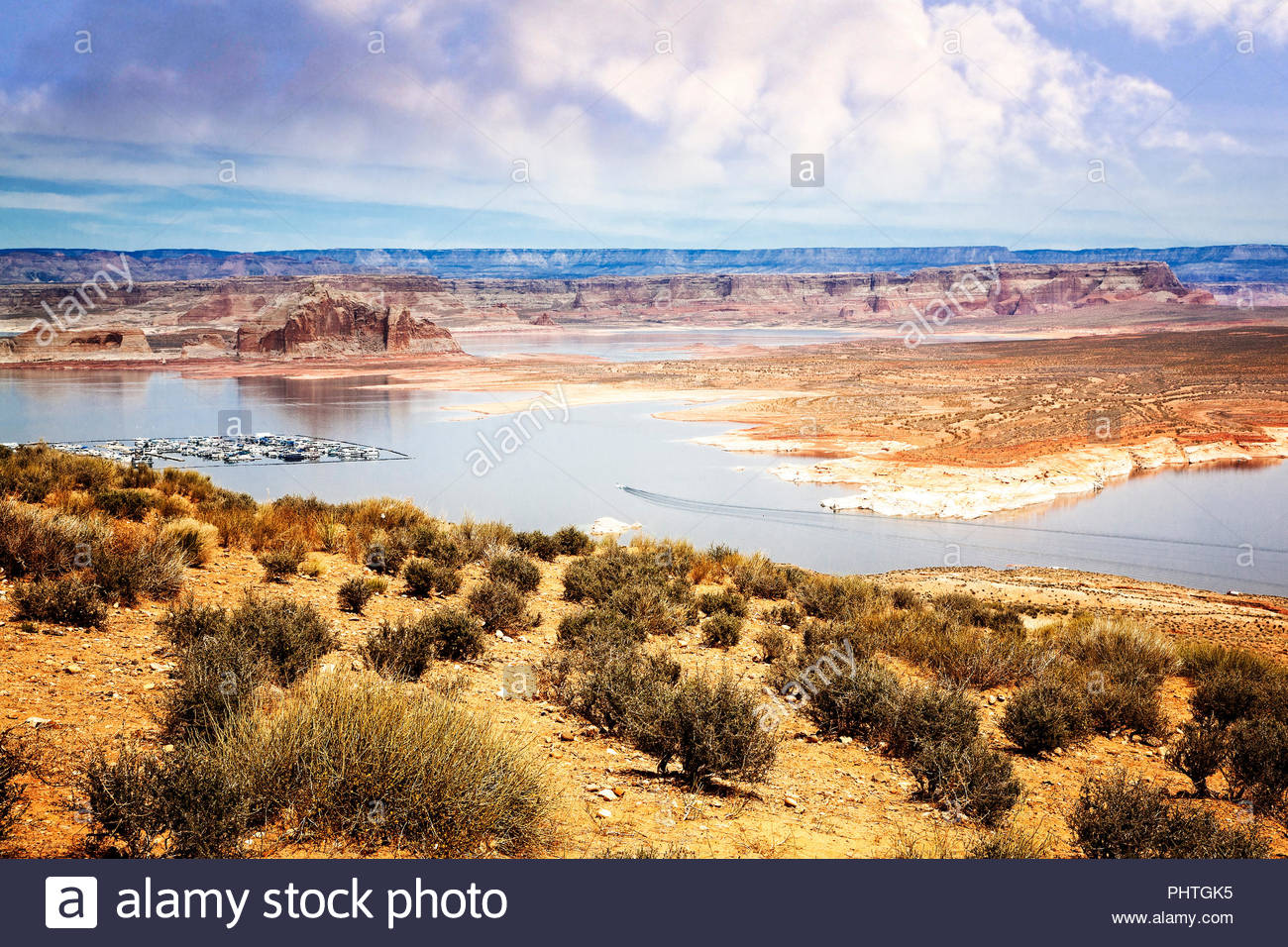 The Lake Powell National Recreational area near Page, Arizona. - Stock Image