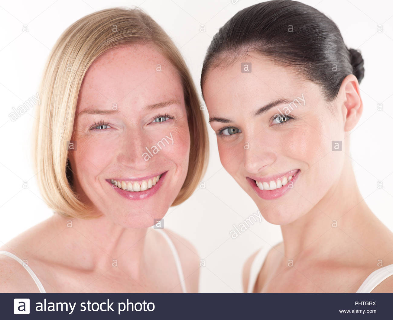 Portrait of two women in natural condition - Stock Image