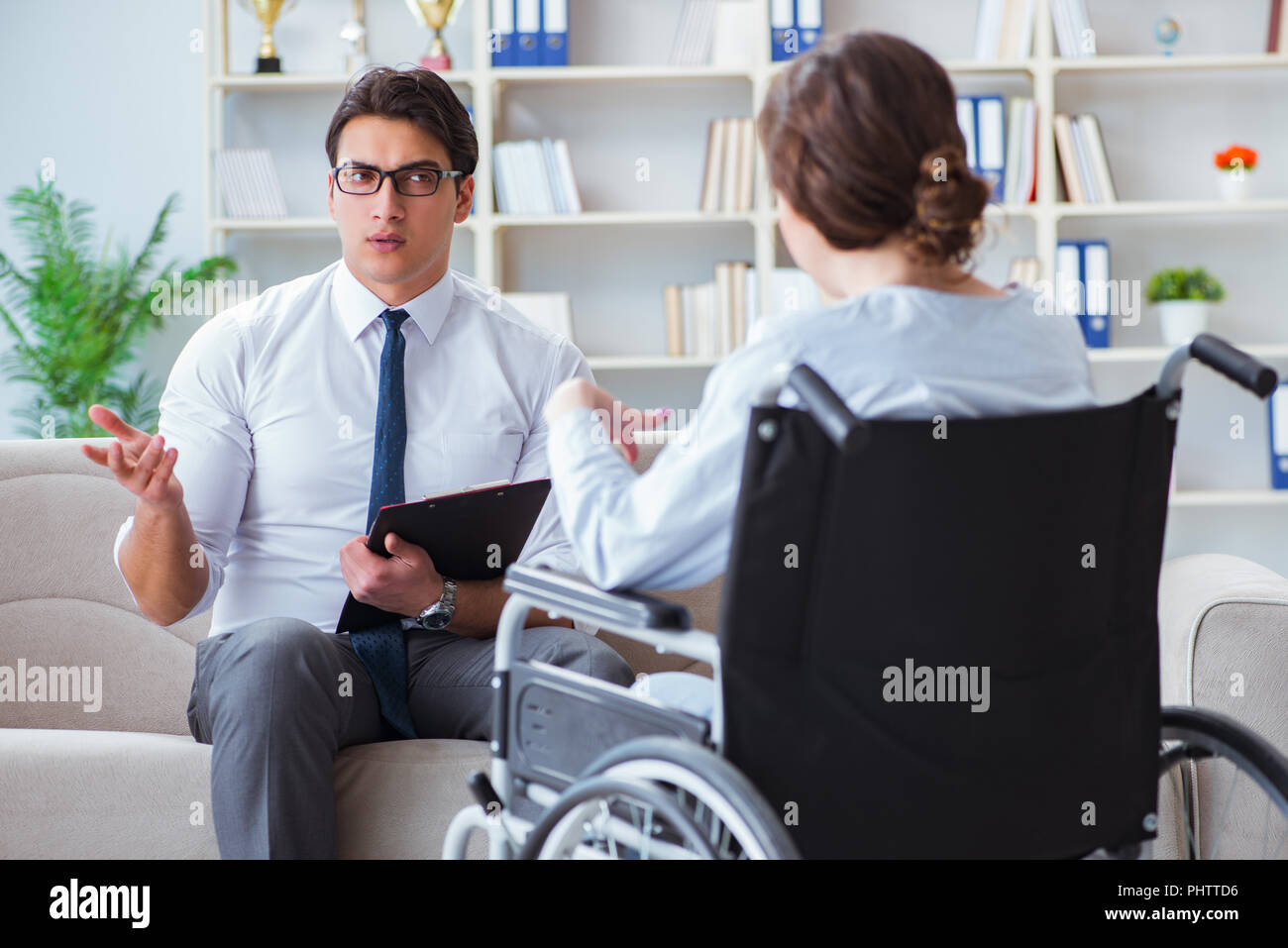 Doctor Patient Rehabilitation Counselor Psychology Stock Photos
