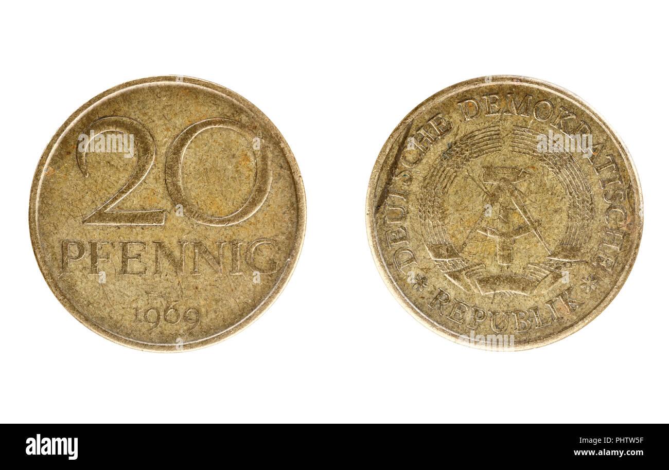 East German Germany DDR GDR 10 Pfennig 1982 Coin Currency Banknote Communist