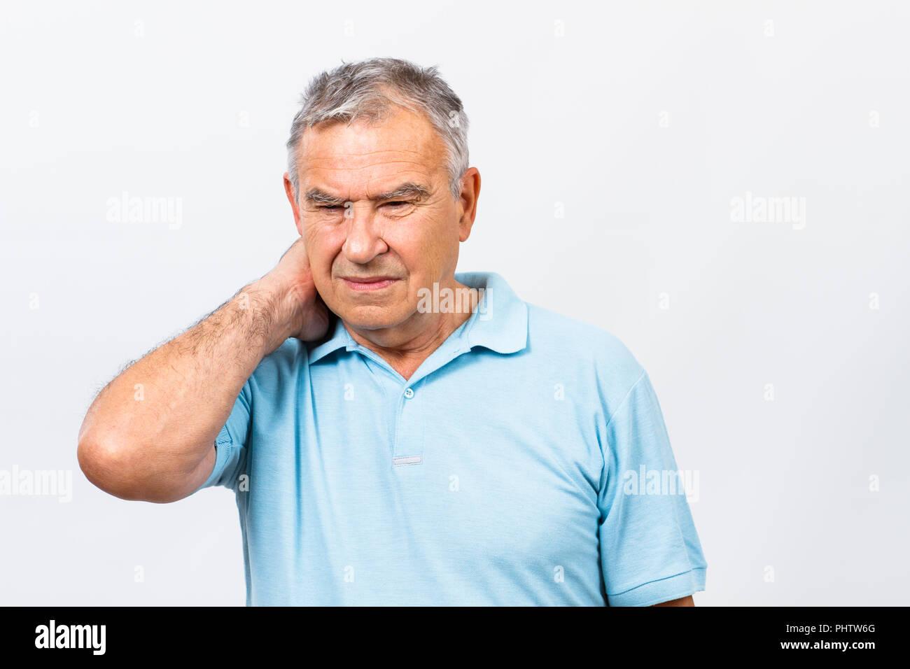 Neck pain - Stock Image
