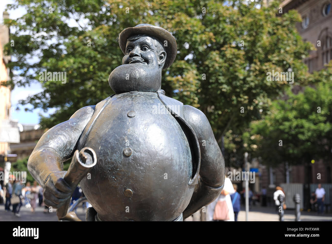 Statue of Desperate Dan, the wild west character from the Dandy, in Dundee where his publishers, D.C. Thomson are based, in Scotland, UK - Stock Image