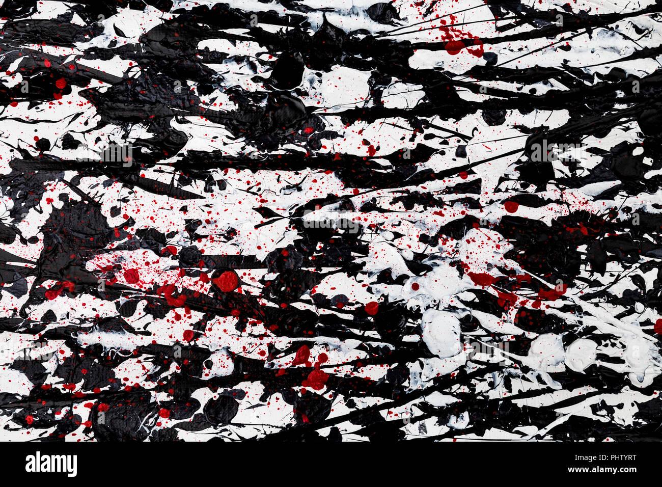 Pollock Style Abstract Art