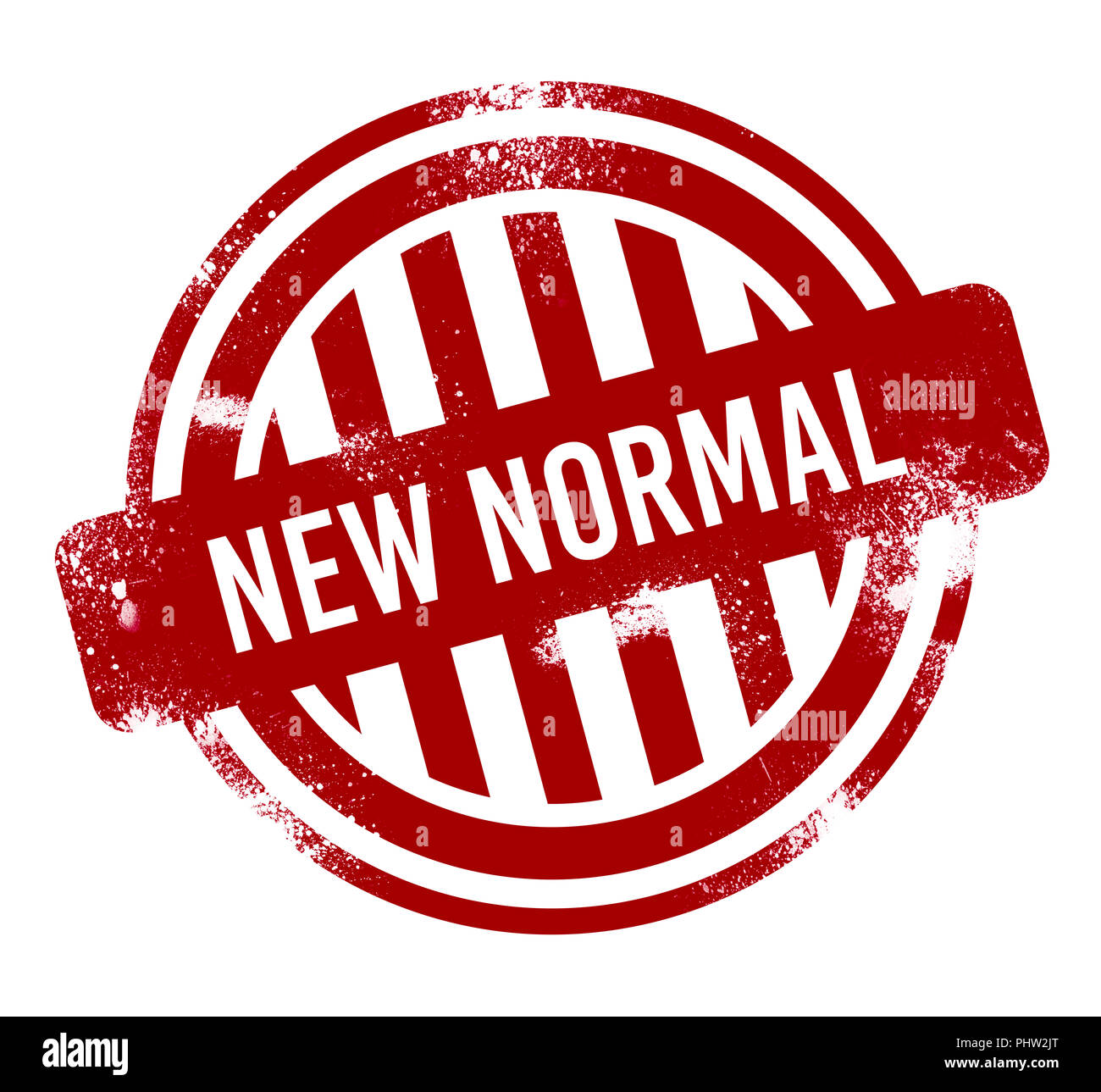 New Normal Red Grunge Button Stamp Stock Photo 217524464 Alamy