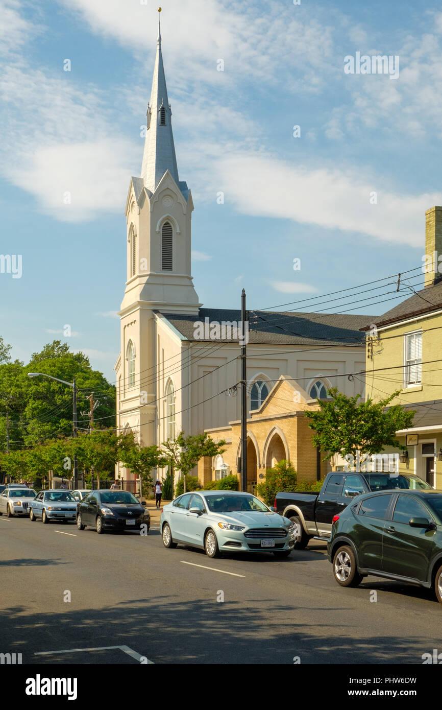 Fredericksburg Baptist Church, 1019 Princess Anne Street, Fredericksburg, Virginia Stock Photo