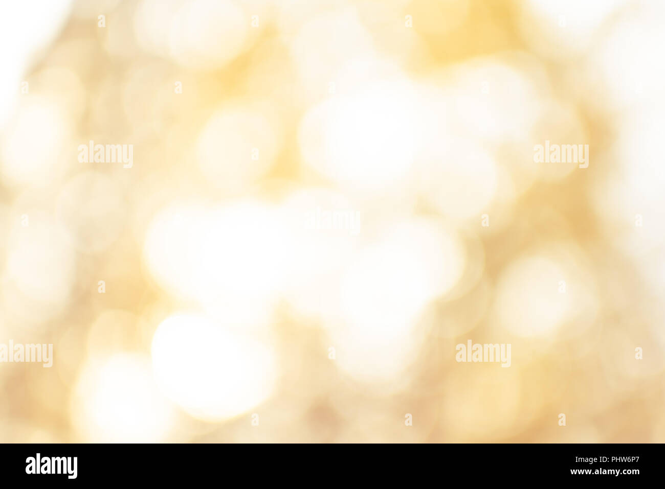Abstract unfocused golden background for design, shimmering. Theme of magical Autumn - Stock Image