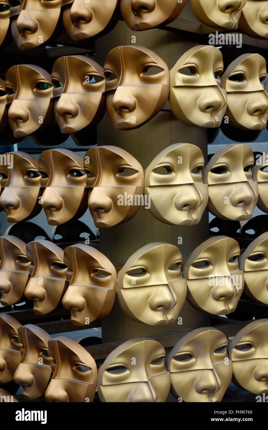 Winners Face Sculpture by Yi Chul Hee, Seoul, Korea. - Stock Image