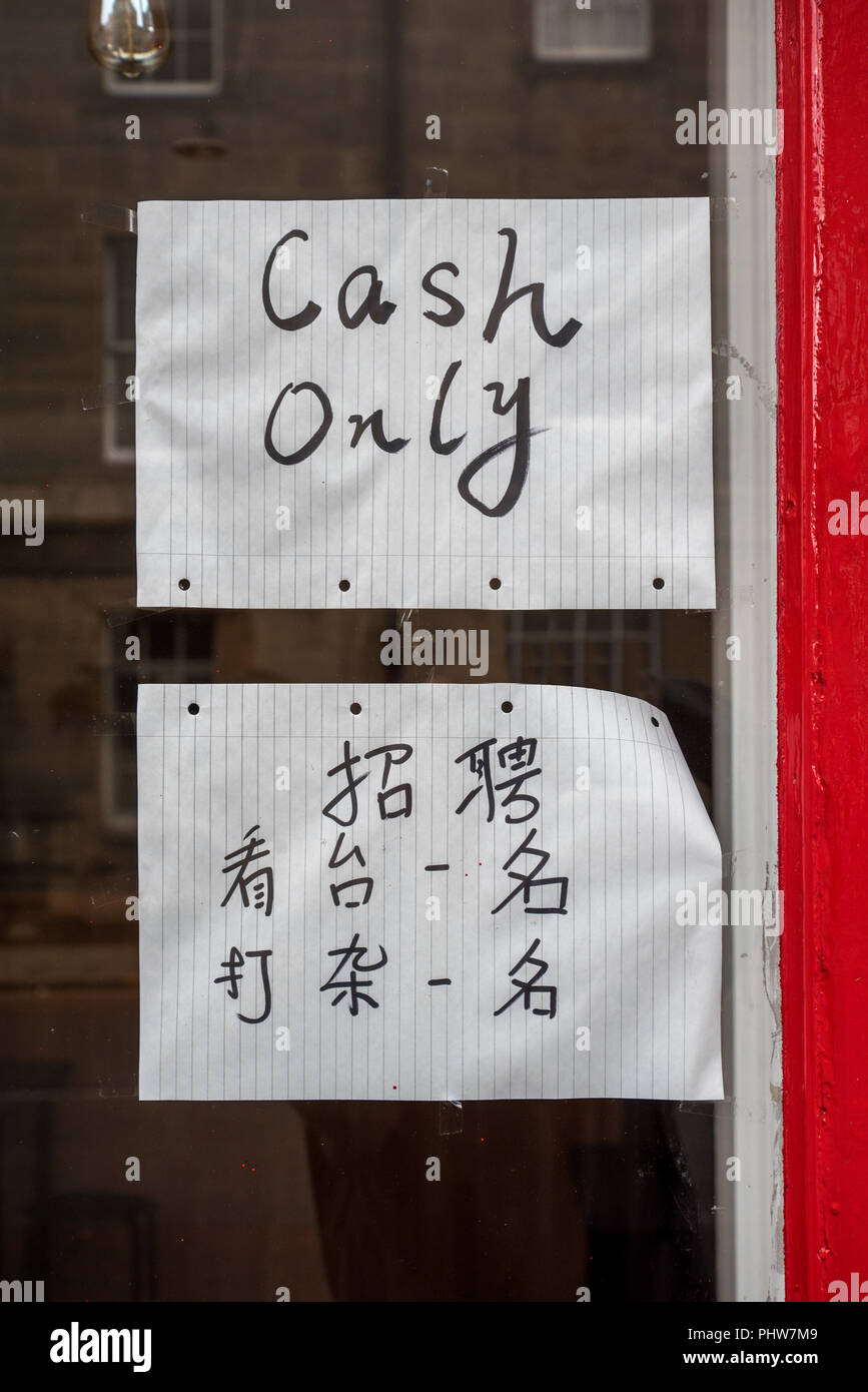 Chinese Signs With English Stock Photos & Chinese Signs With