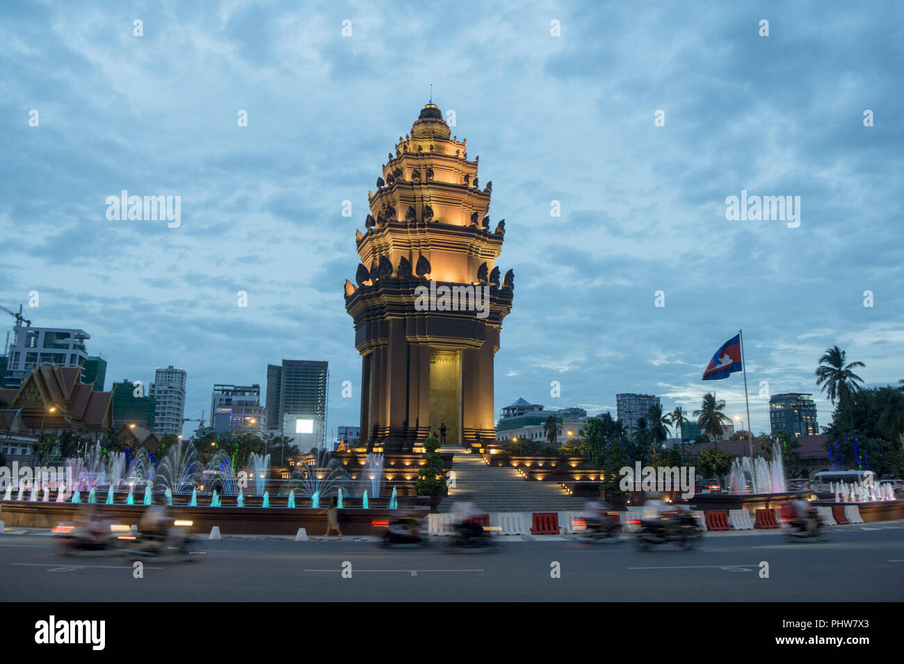 CAMBODIA PHNOM PENH INDEPENDENCE MONUMENT Stock Photo