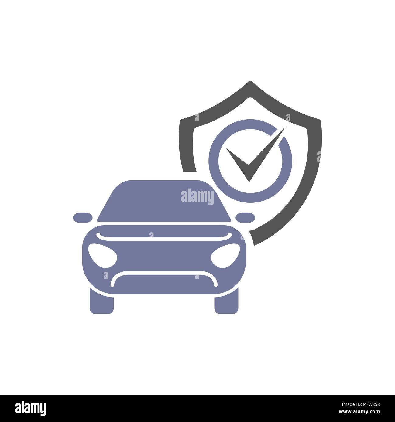 Car guard shield sign, collision insurance shop logo emblem protection, driver flat security system badge. Theft modern design label illustration. Stock Vector