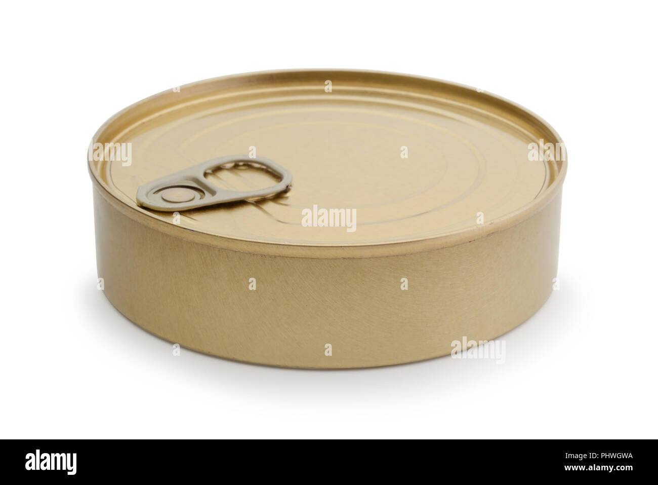 Tin can for conserve product isolated on white background - Stock Image