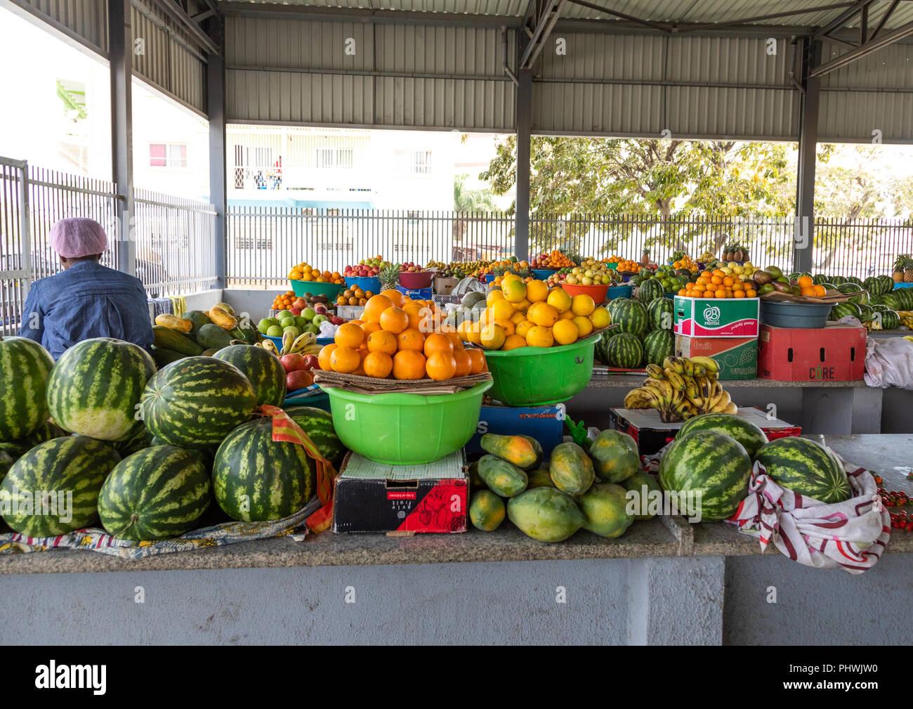 Fruits market, Benguela Province, Benguela, Angola - Stock Image