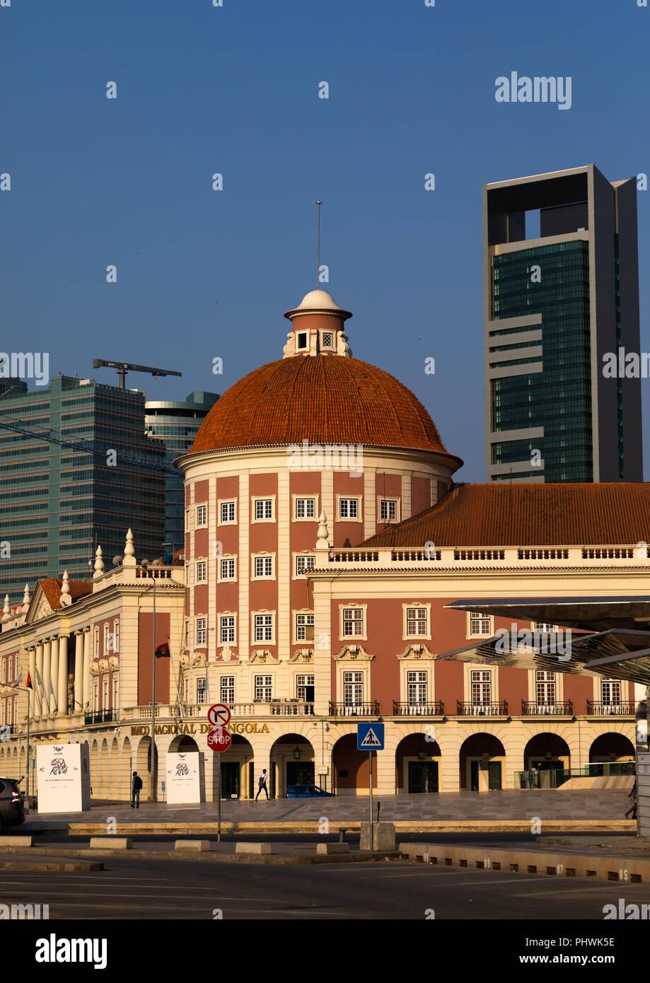 Banco nacional de Angola, Luanda Province, Luanda, Angola Stock Photo