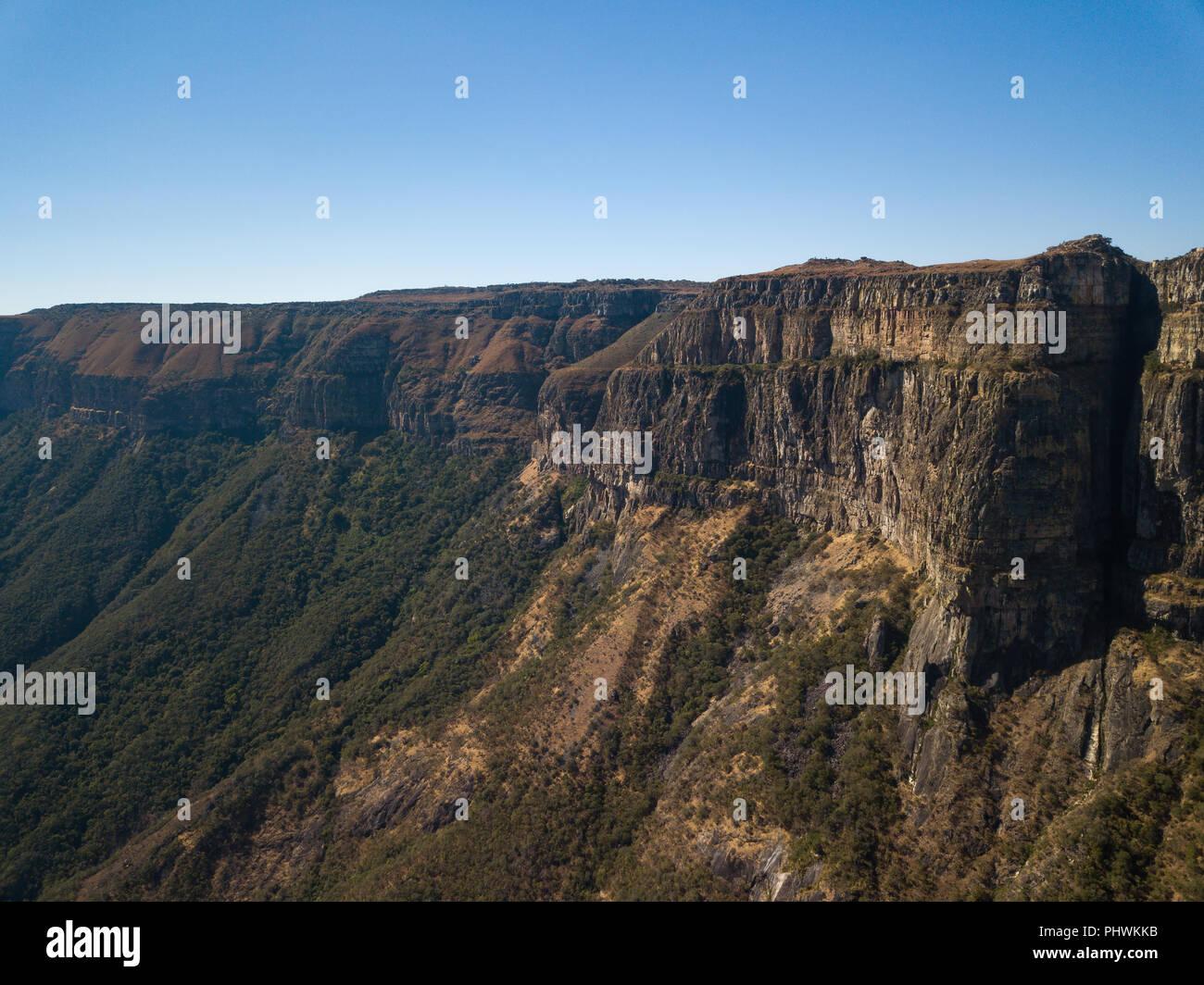 Tundavala escarpment, Huila Province, Lubango, Angola - Stock Image
