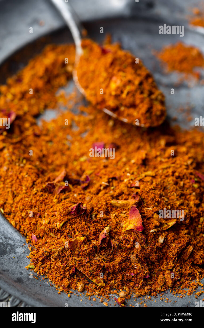 Ras el hanout, a spice mix from North Africa - Stock Image