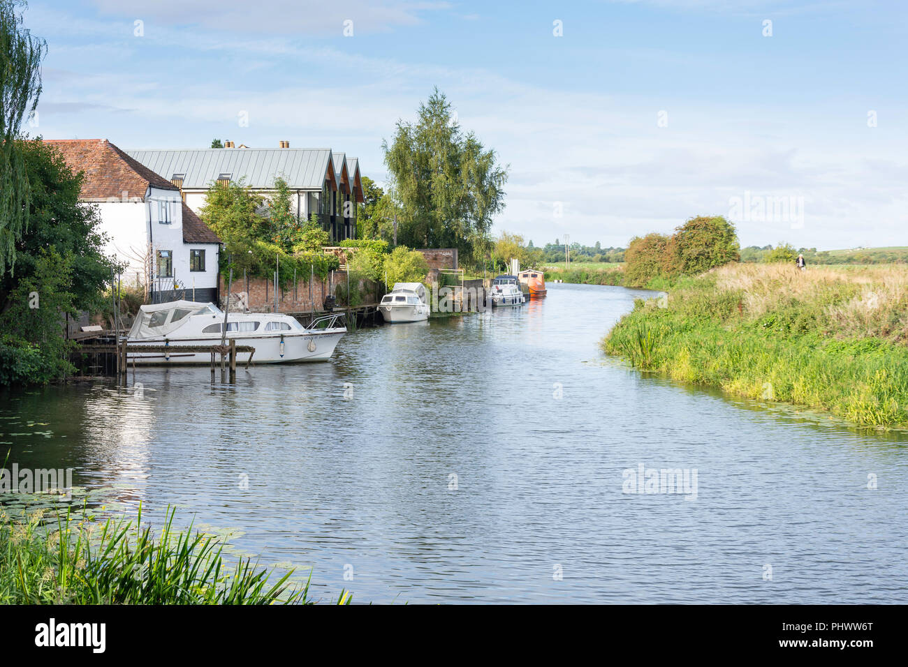 River Avon, Back of Avon, Tewkesbury, Gloucestershire, England, United Kingdom - Stock Image