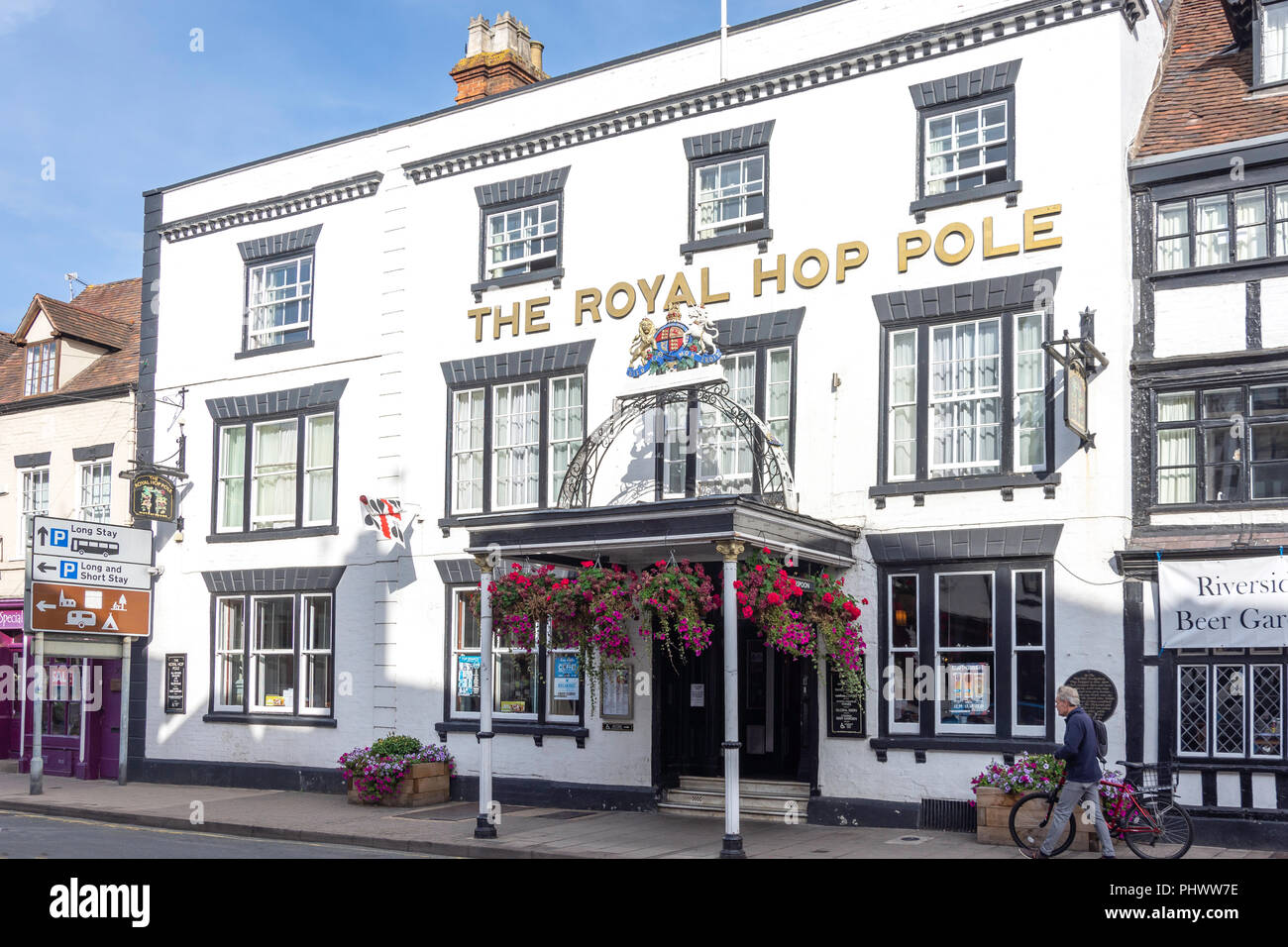 15th century The Royal Hop Pole Inn, Church Street, Tewkesbury, Gloucestershire, England, United Kingdom - Stock Image