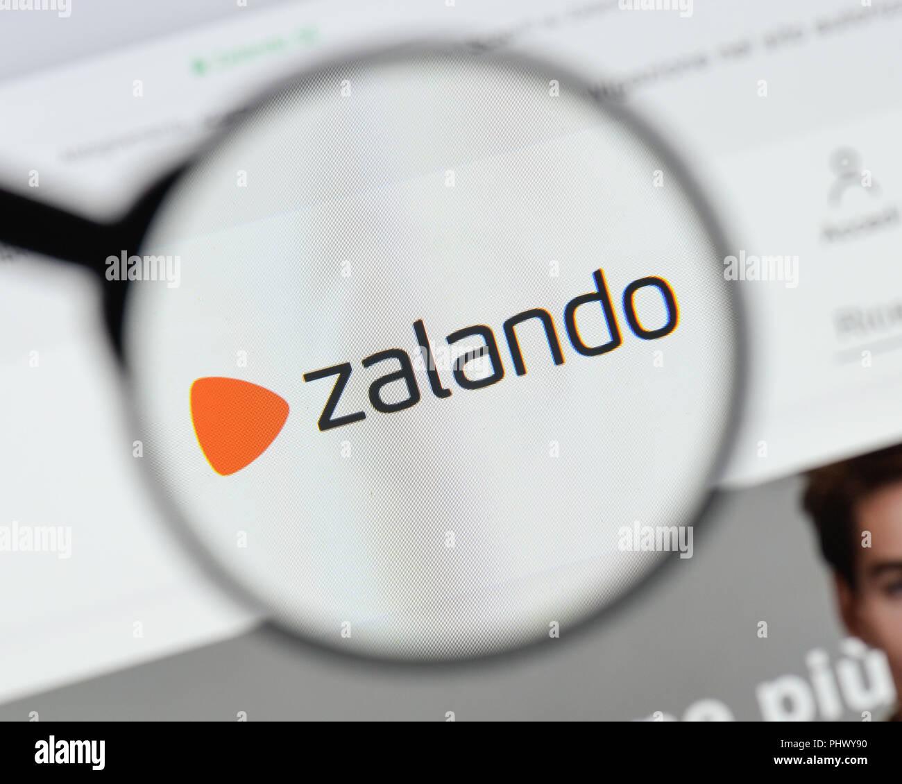 Milan Italy August 20 2018 Zalando Website Homepage Zalando