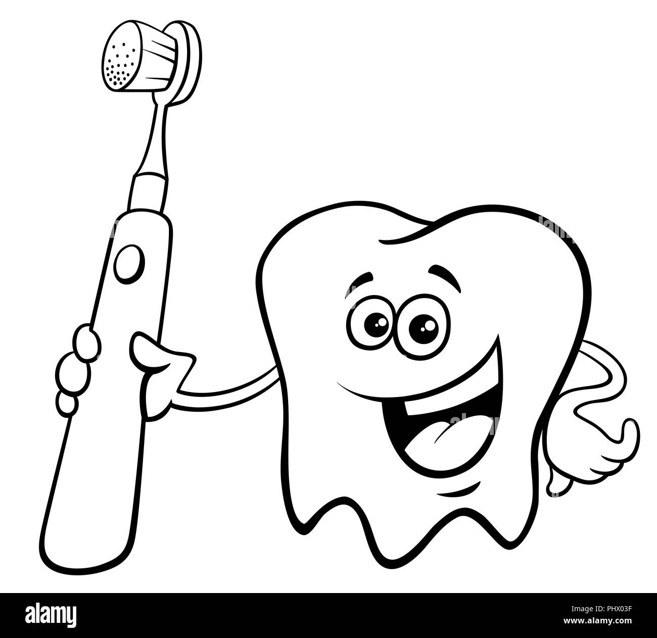 tooth and toothbrush coloring pages.html