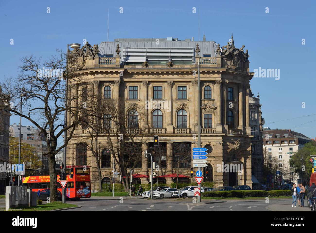 Alte Boerse, Lenbachplatz, Muenchen, Bayern, Deutschland - Stock Image