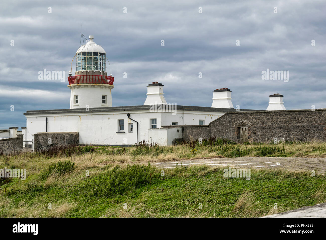 This is a picture of Tullymore lighthouse in Donegal, Ireland Stock Photo