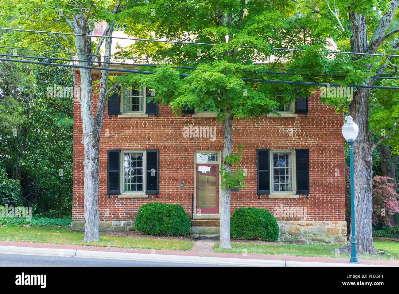 MOCKSVILLE, NC, USA-8/30/18: The original Davie county jail, now used for office or residential purposes. Stock Photo