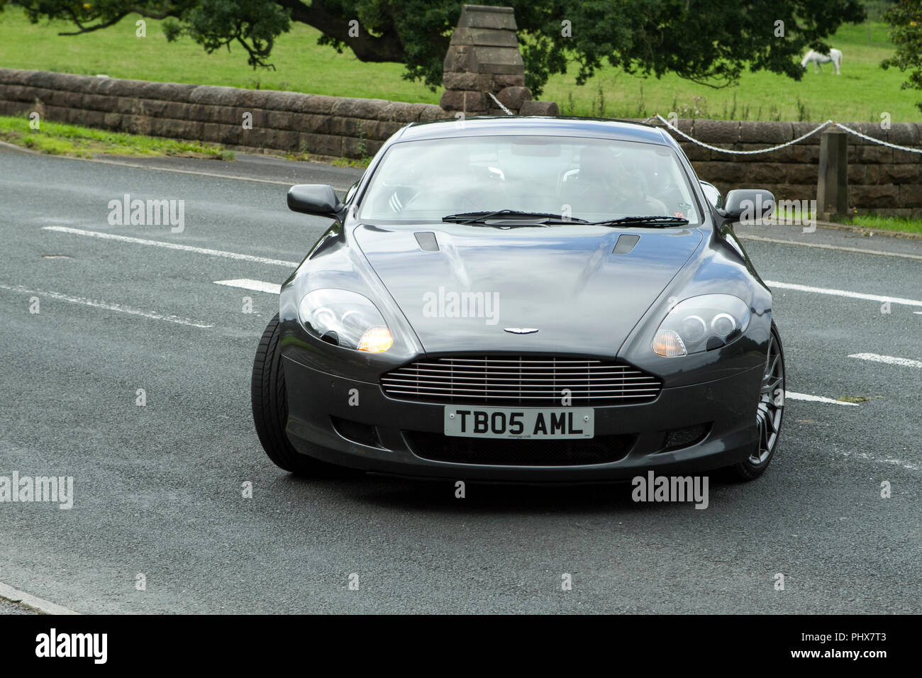 2005 Aston Martin Db9 Auto At Hoghton Towers Annual Classic Vintage Car Rally Uk Stock Photo Alamy
