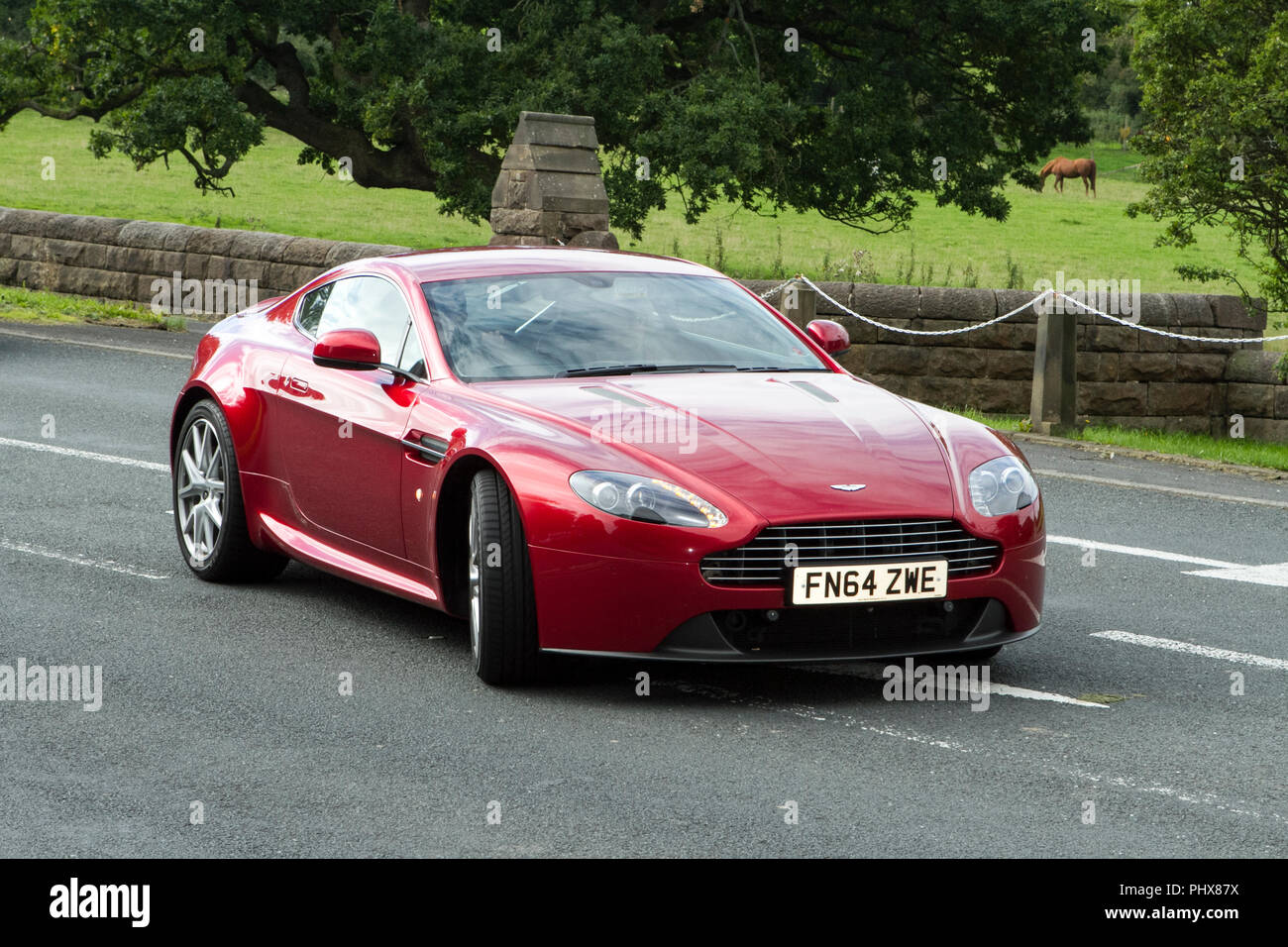 2015 Aston Martin Vantage V8 Red Classic Cars Veteran Restored Car Classic Vehicle Automobile Old Transportation Retro Transport Uk Stock Photo Alamy