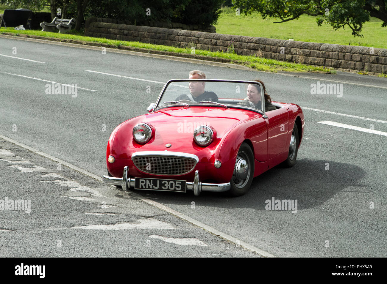 Red Austin Healey Classic Cars Veteran Restored Car Classic