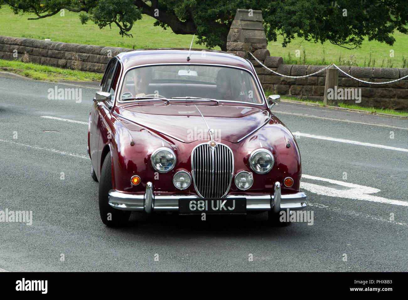 Maroon Jaguar Classic Cars Veteran Restored Car Classic Vehicle