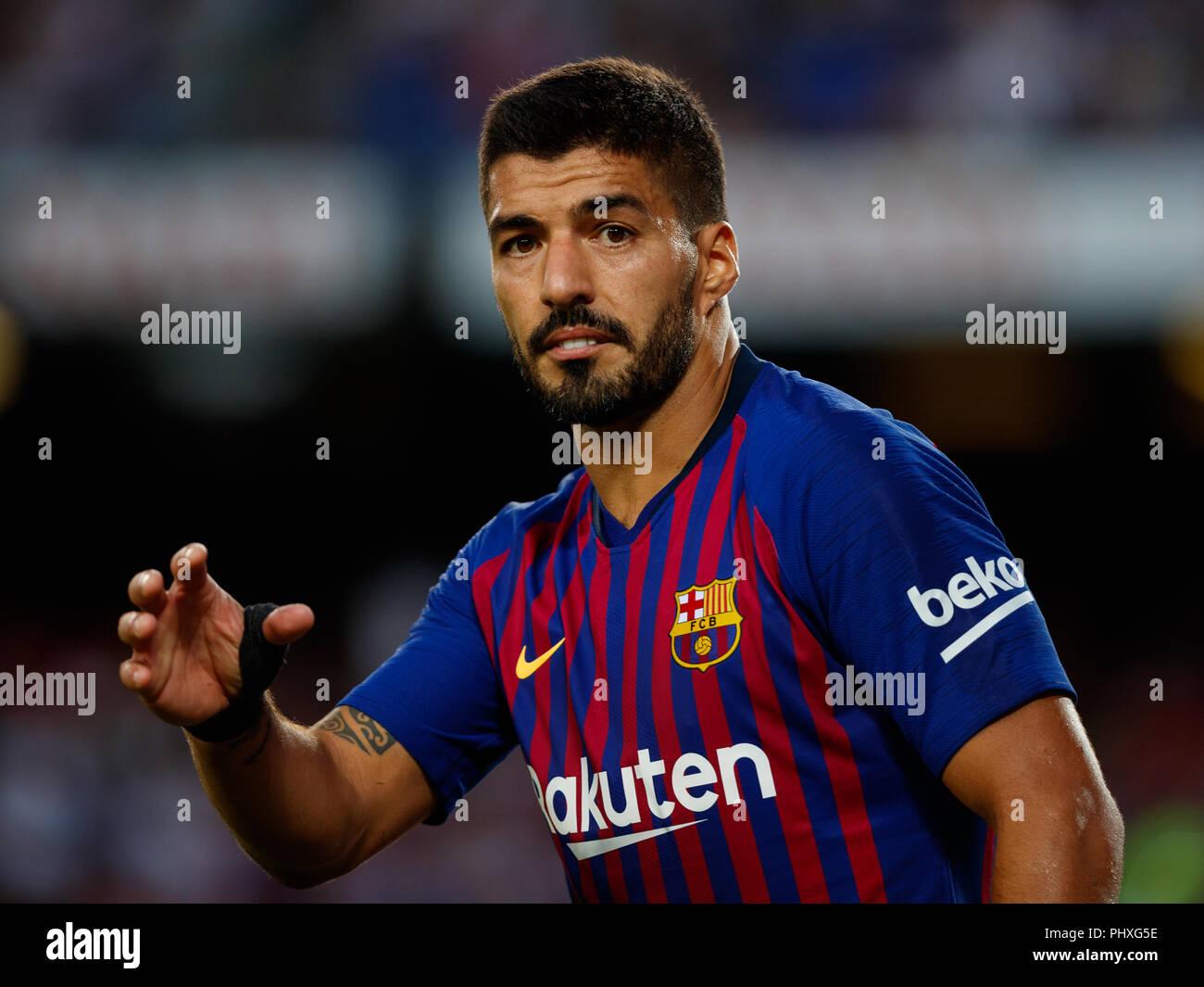 Barcelona Spain 02nd Sep 2018 Luis Suarez Player Of Fc