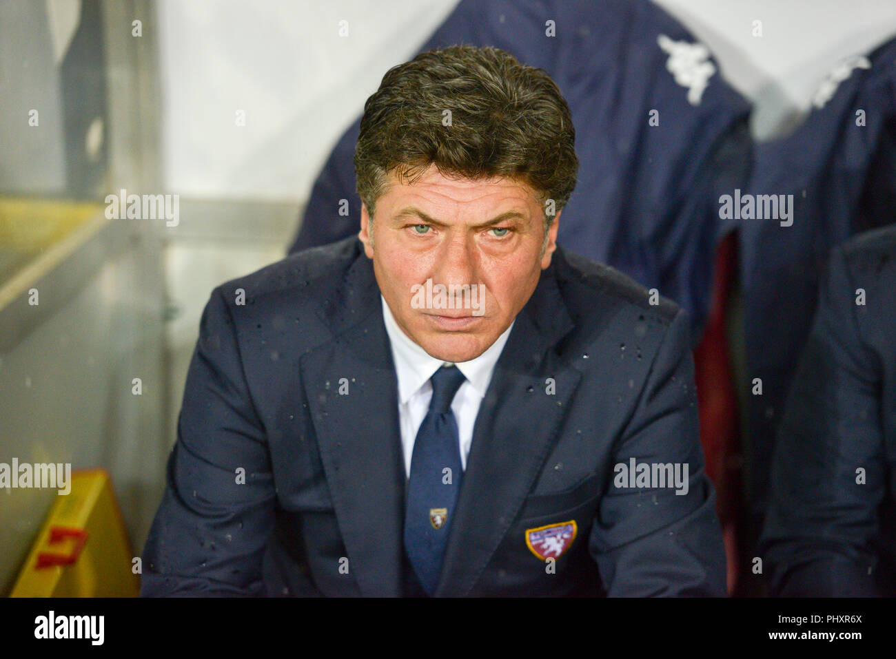 Turin, Italy. 2nd Sept 2018. Walter Mazzarri, head coach of Torino FC,during the Serie A football match between Torino FC and S.P.A.L at Olympic Grande Torino Stadium on September 02, 2018 in Turin, Italy. Credit: Antonio Polia/Alamy Live News Stock Photo