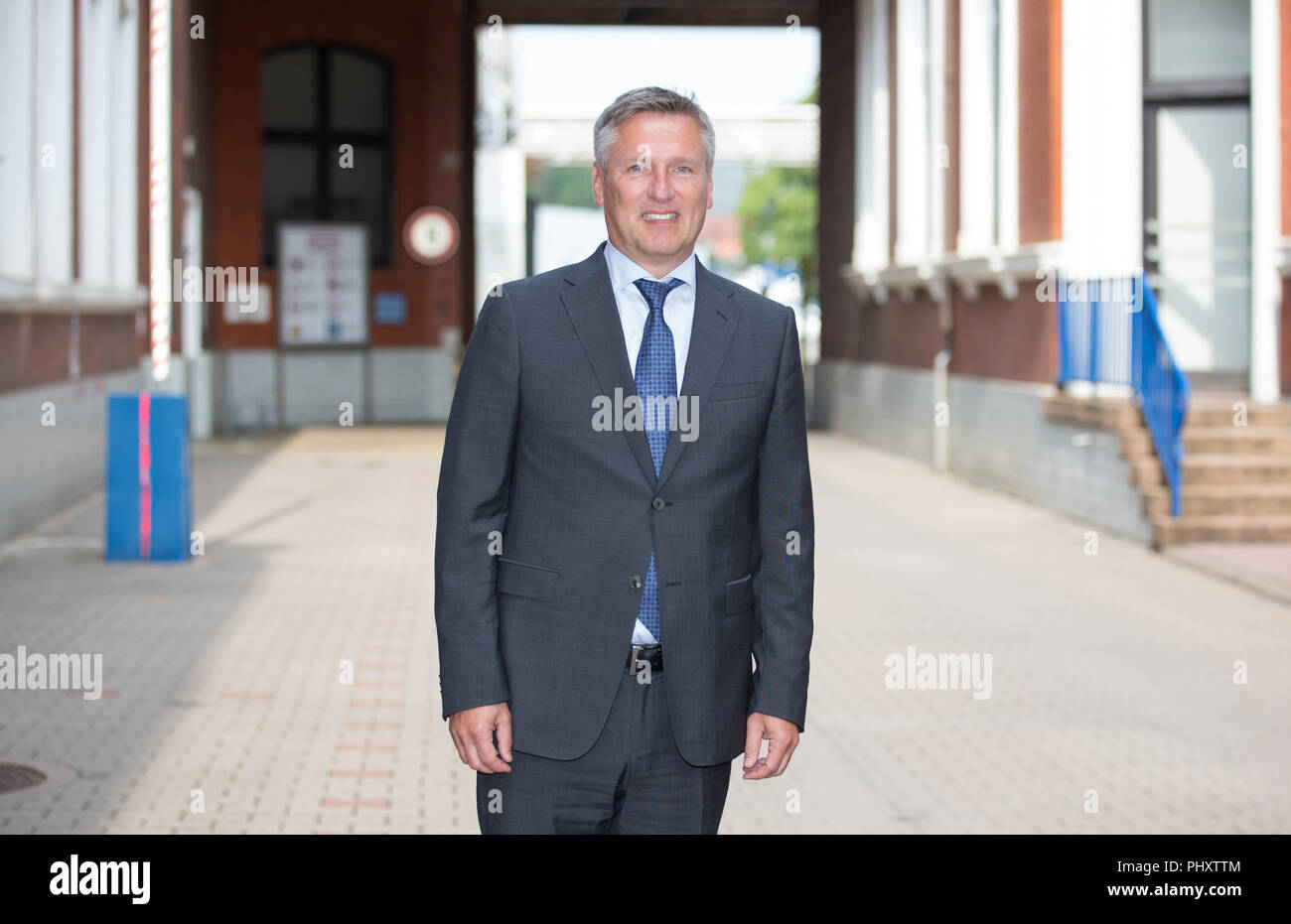 Dissen, Germany. 03rd Sep, 2018. 03.09.2018, Lower Saxony, Dissen: Sönke Renk, spokesman of the Homann management, recorded on the premises of the food manufacturer Homann Feinkost. The company is owned by the Luxembourg-based Theo Müller Group. Credit: Friso Gentsch/dpa/Alamy Live News - Stock Image