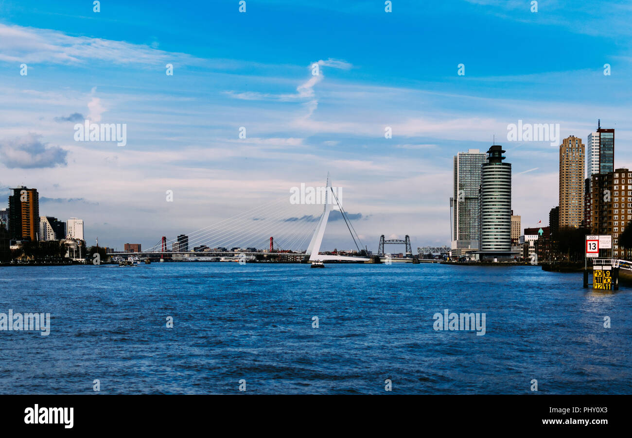 Daylight in Roffa. Rotterdam, Netherlands. March 2018, Europe. - Stock Image