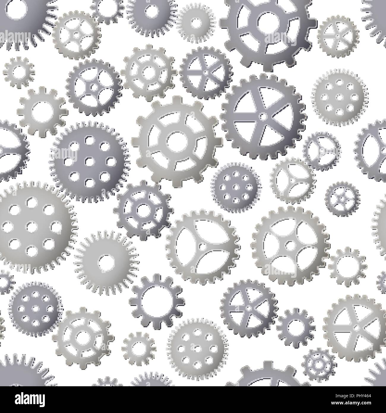 Seamless pattern background with gears. Steel Details. Vector illustration. Steampunk design. - Stock Vector