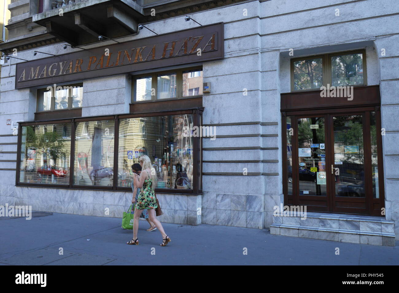 The House of Palinka, Magyar Palinka haza, Budapest, Hungary - Stock Image