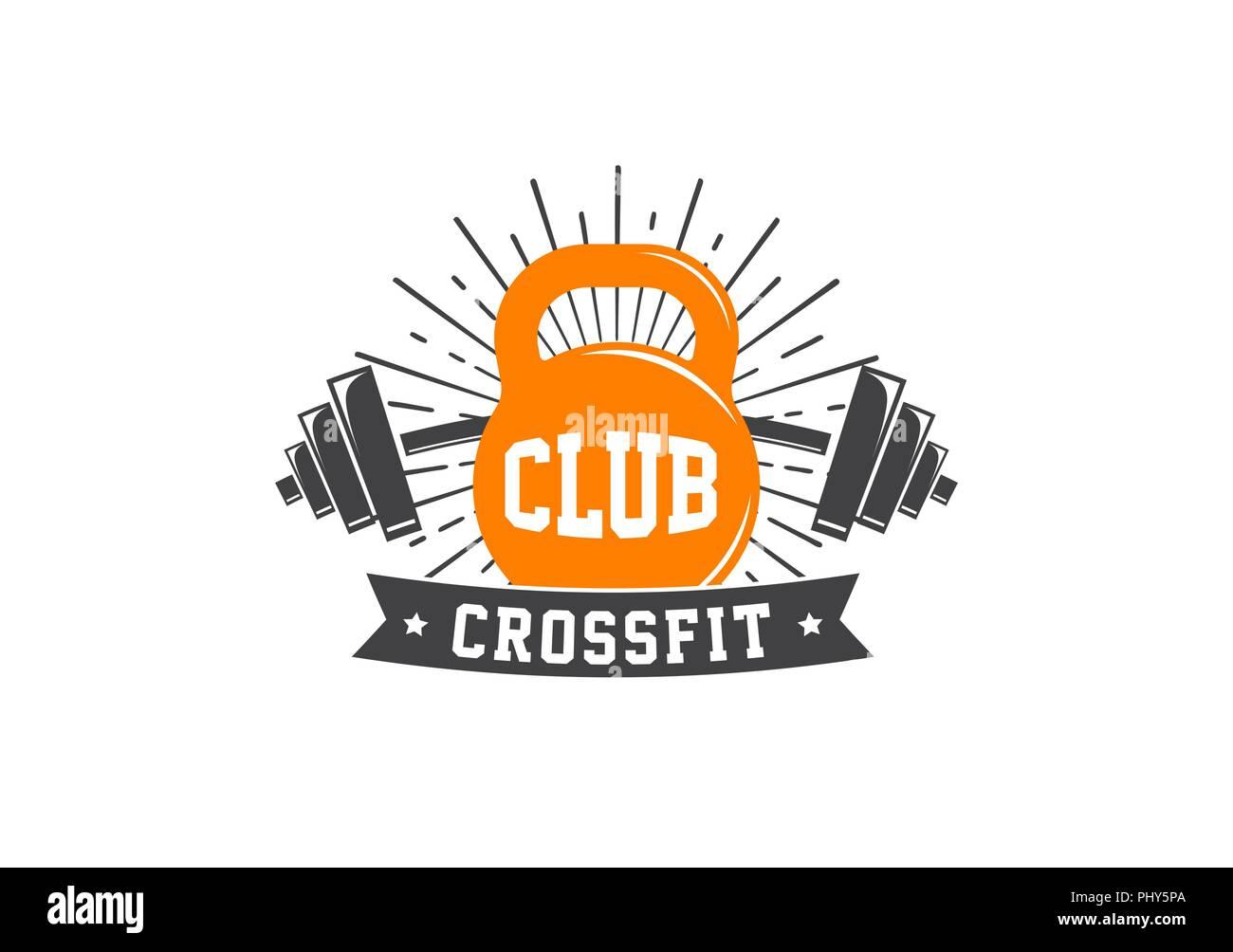 Fitness Crossfit Gym Emblems Label Badge Vector Logo And Element