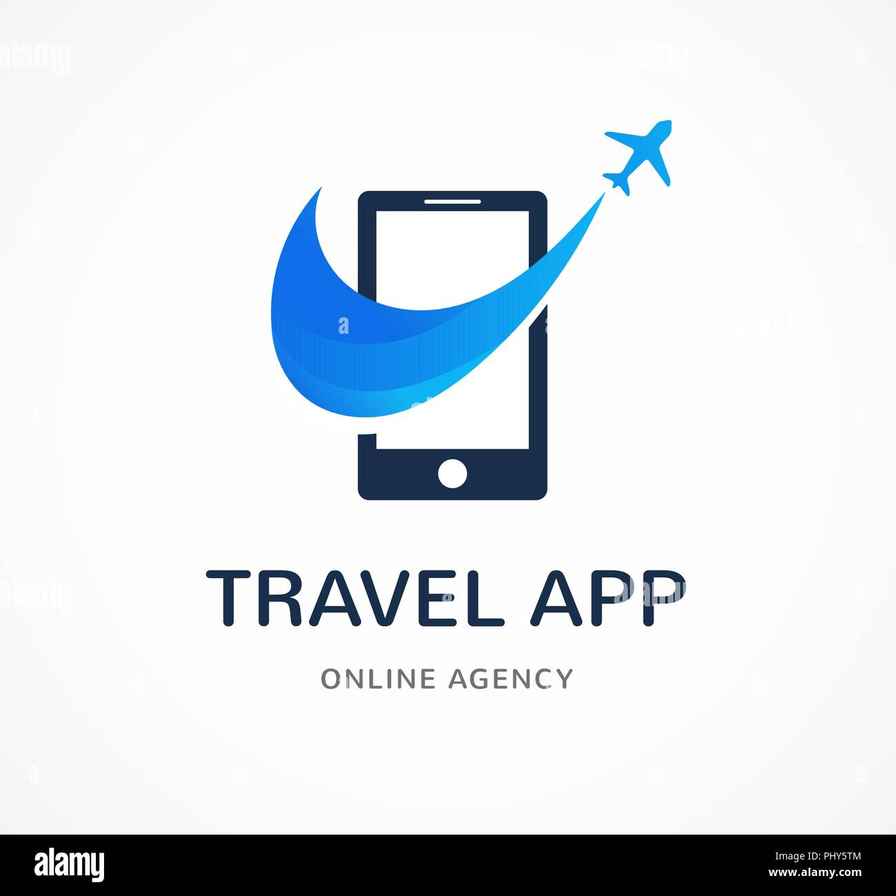 Travel agency, tourism app and trips logo, adventure tours, vector modern icon and element - Stock Vector
