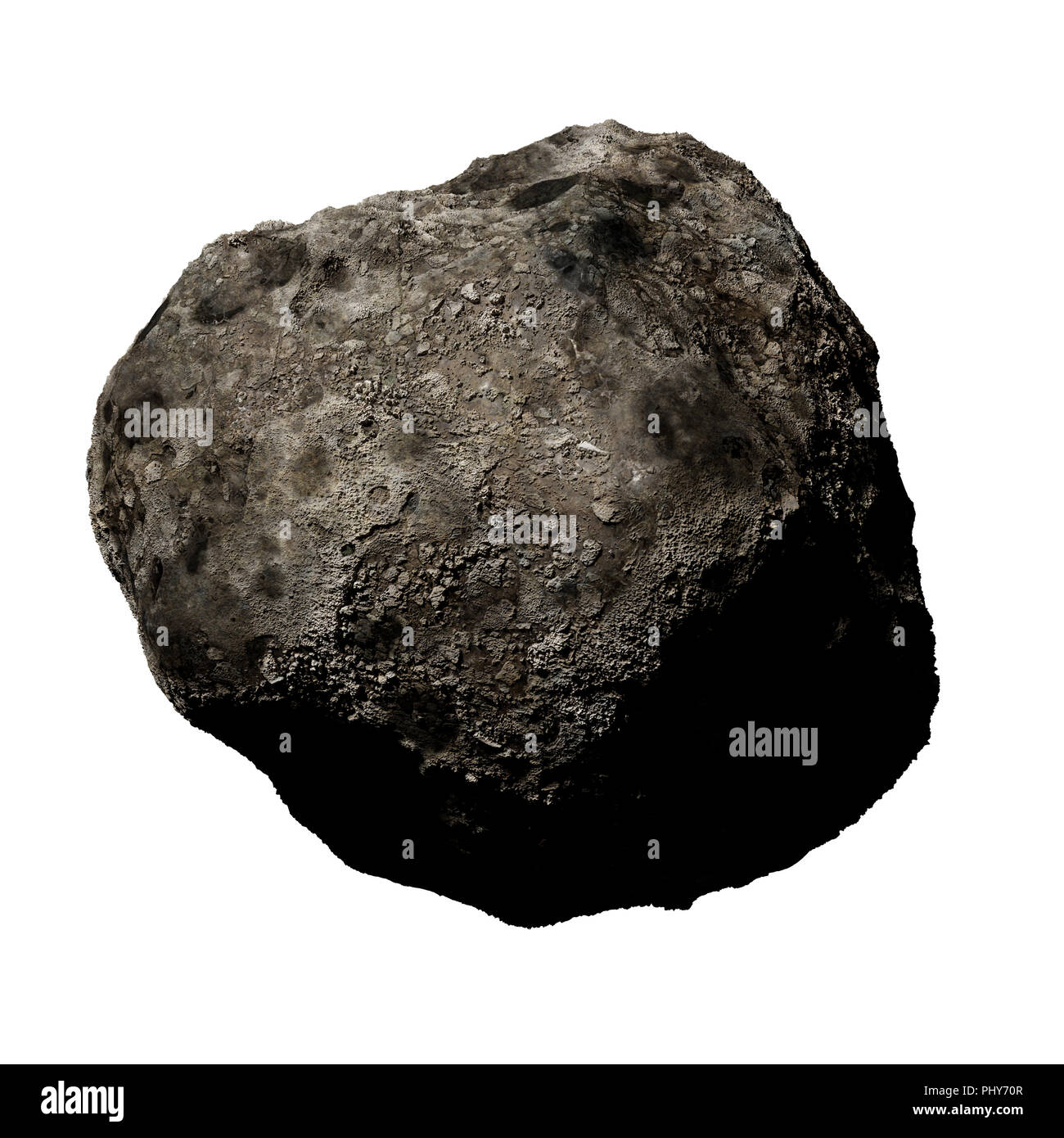 asteroid isolated on white background Stock Photo: 217571783