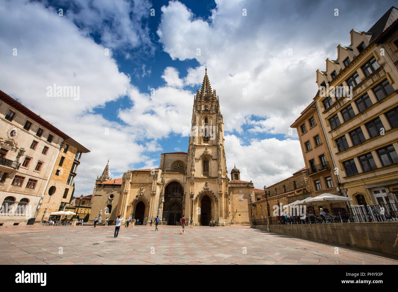 The city of Oviedo in Asturias, North West Spain - Stock Image
