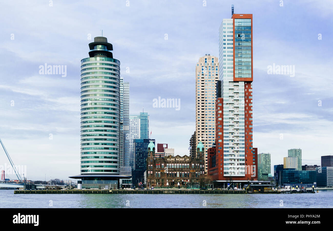 HNY. Rotterdam, March 2018. South Holland, Europe. - Stock Image