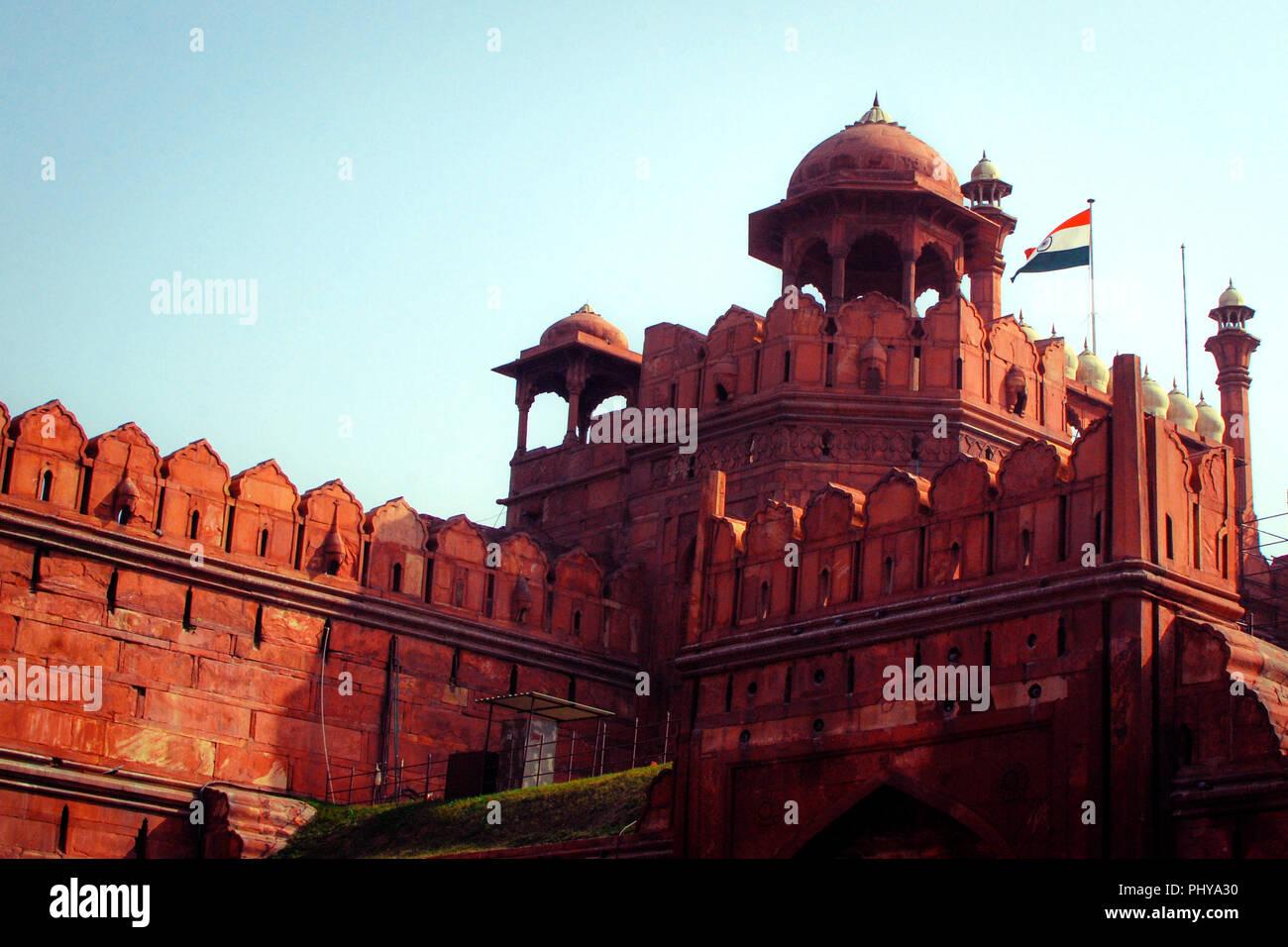 Unesco world heritage site, Red Fort, New Delhi, India. Stock Photo