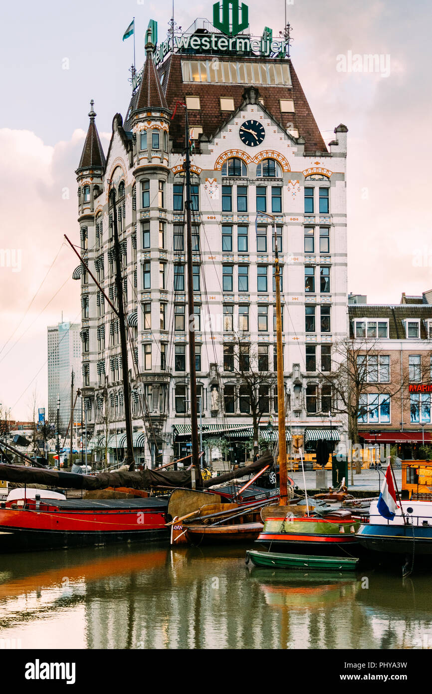Oude Haven. Rotterdam - February 2018. South Holland - Europe - Stock Image