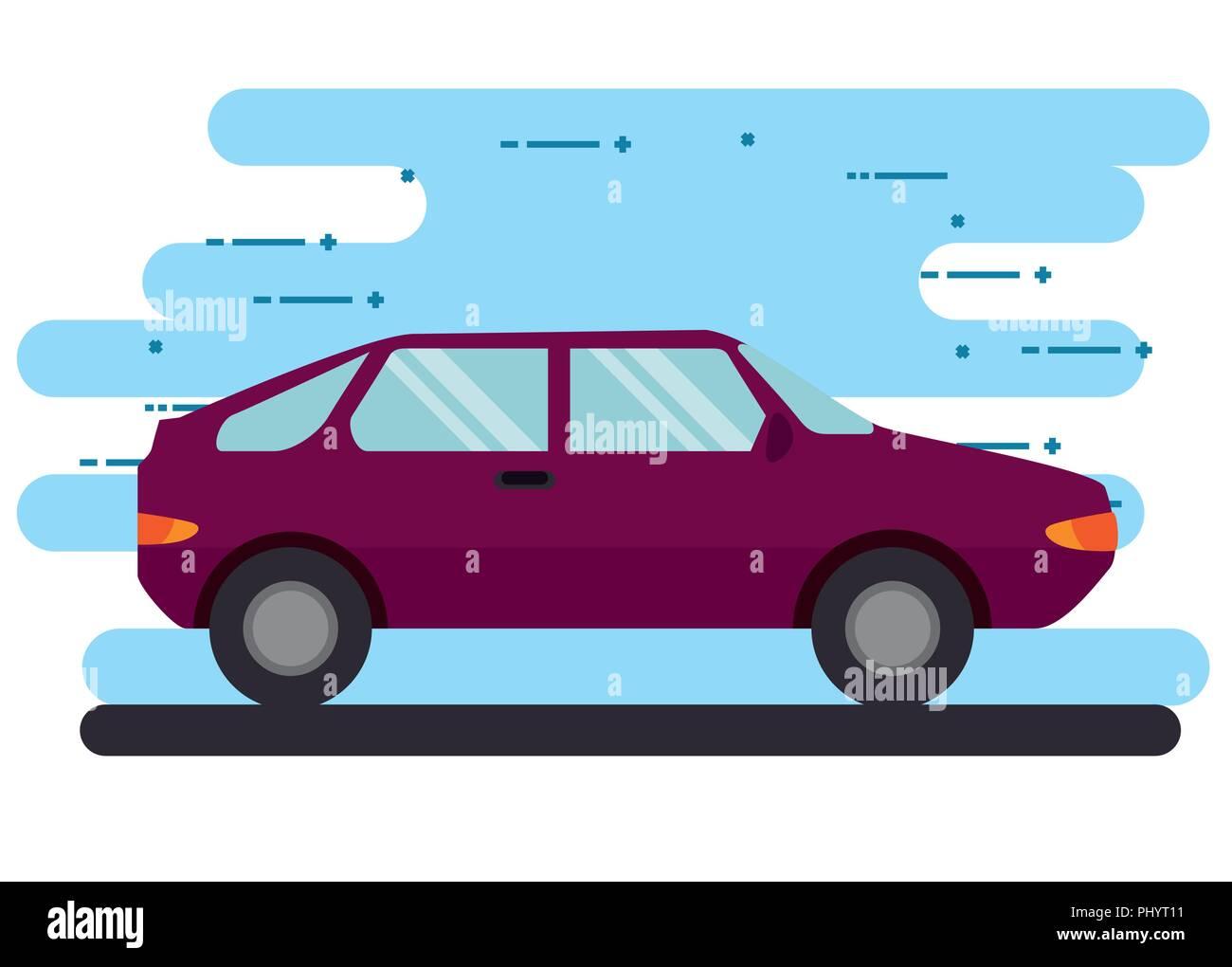 car vehicle transport icon vector illustration design - Stock Image