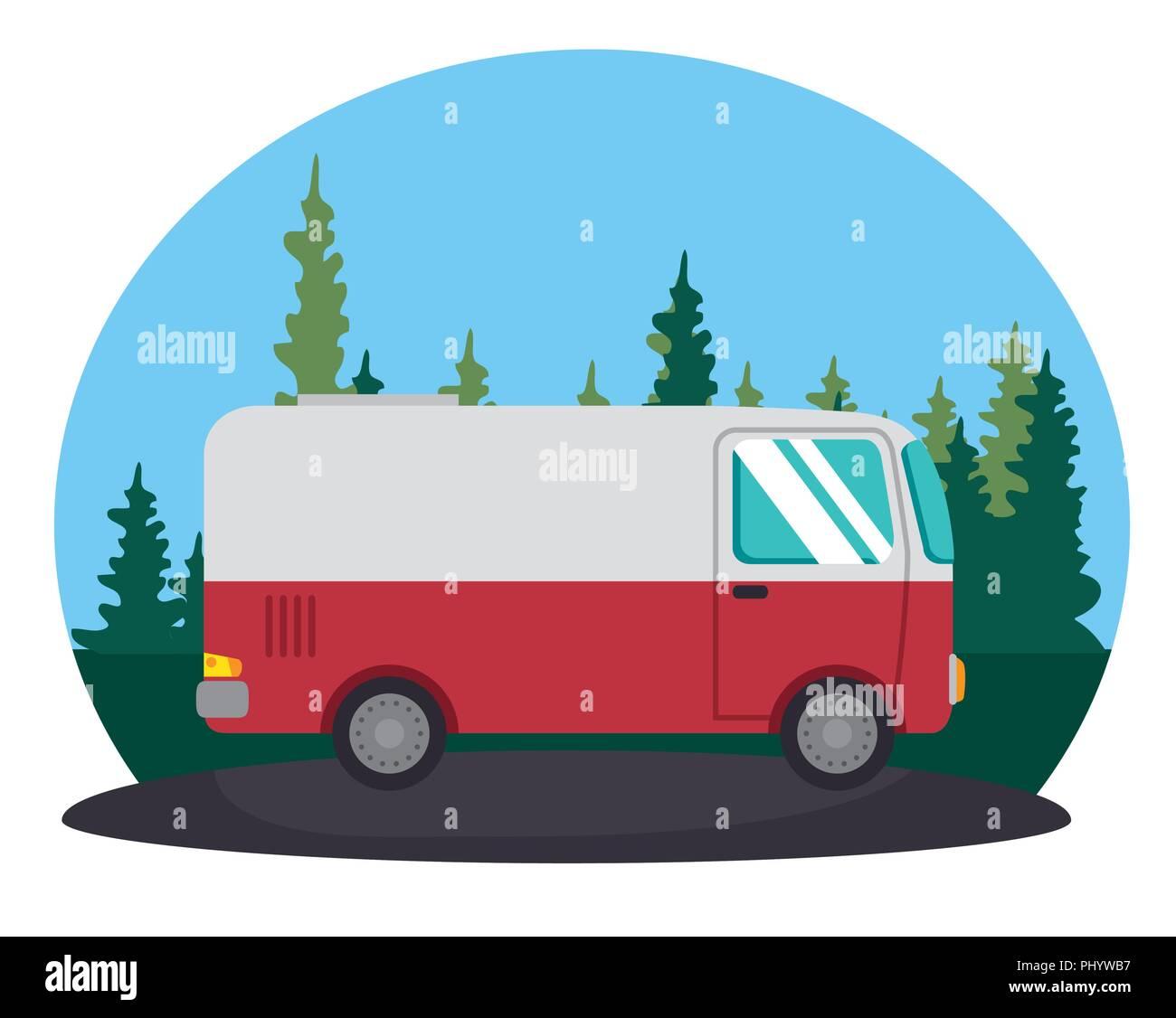 van vehicle transport icon vector illustration design - Stock Image
